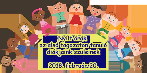 Nyílt órák az alsó tagozaton (2018.02.20. kedd)